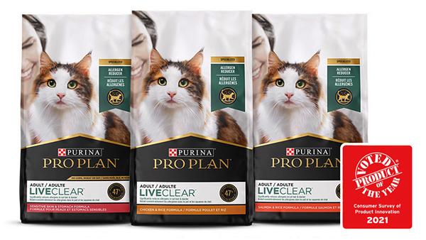 Корм Pro Plan LiveClear стал Продуктом года в США