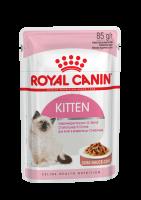 Kitten (Киттен) Мелкие кусочки в соусе для котят от 4 до 12 месяцев_1