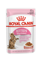 Kitten Sterilised (Киттен Стерилайзд) Мелкие кусочки в соусе для стерилизованных котят с момента операции до 12 месяцев_1