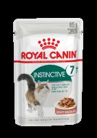 Instinctive 7+ (Инстинктив +7) Мелкие кусочки в соусе, помогабщие поддерживать жизненные силы кошек старше 7 лет_1