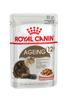 Ageing 12+ (Эйджинг +12) Мелкие кусочки в соусе для взрослых кошек старше 12 лет_1