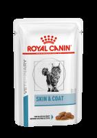 Vcn Skin and Coat Formula (Вкн Скин энд Коат Формула пауч) питание для кастрированных/стерилизованных котов и кошек с повышенной чувствительностью кожи и шерсти_0