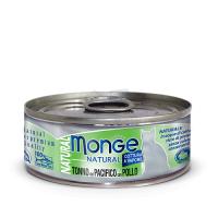 Консервы Монж для кошек тихоокеанский тунец с курицей 80гр Monge Cat Natural_1