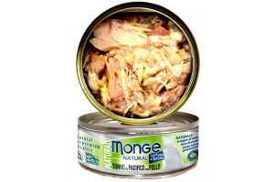 Консервы Монж для кошек тихоокеанский тунец с курицей 80гр Monge Cat Natural_0