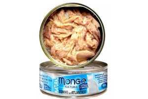 Консервы Монж для кошек атлантический тунец 80гр Monge Cat Natural_0