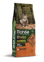 Беззерновой корм Монж из мяса утки с картофелем для взрослых собак всех пород Monge Dog BWild GRAIN FREE_1
