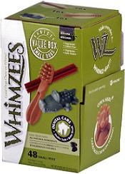 Whimzees МИКС (палочки/ щетки/ крокодильчики) для собак S 48 шт в дисплее_0