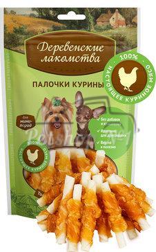Деревенские лакомства для мини-пород Палочки куриные 55 гр_0