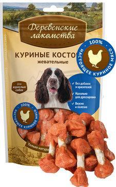 Деревенские лакомства Куриные косточки жевательные 90 гр_0