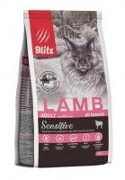 BLITZ ADULT CATS LAMB сухой корм для взрослых кошек с Ягненком_0