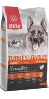 BLITZ ADULT Turkey and Barley сухой корм для взрослых собак с индейкой и ячменем_1