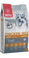BLITZ ADULT Chicken and Rice сухой корм для взрослых собак с курицей и рисом_1