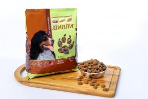 Сухой корм для взрослых собак Дилли (говяжий гуляш с овощами) 16 кг_1